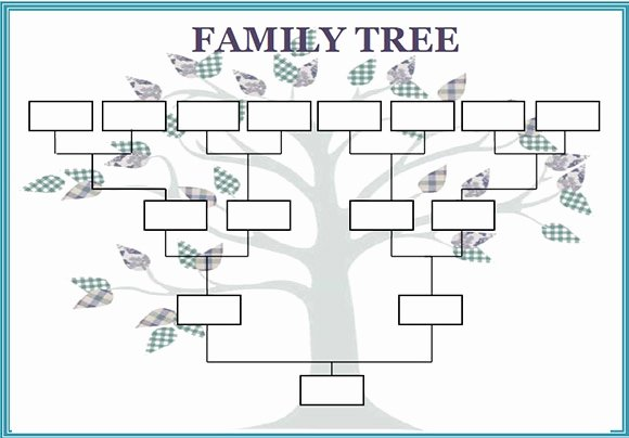Excel Family Tree Templates Unique Family Tree Template Word