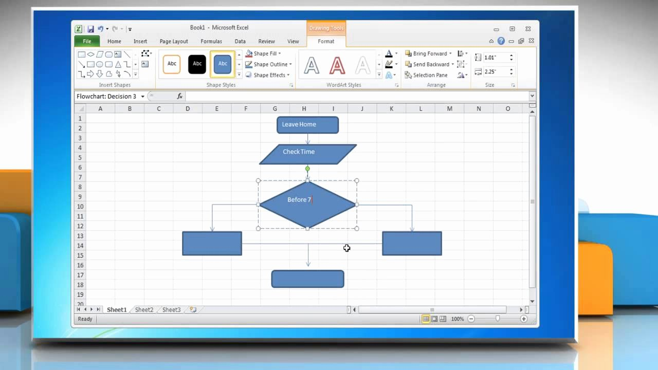Excel Flow Chart Templates Inspirational How to Make A Flow Chart In Excel 2010