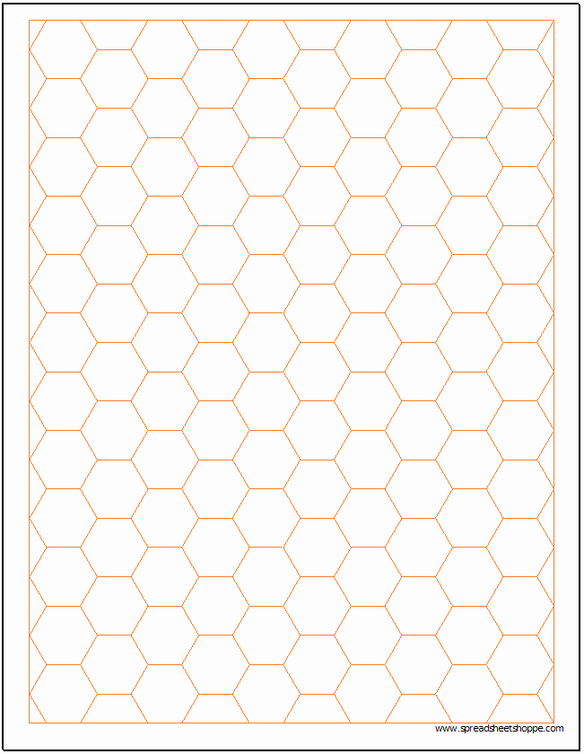 Excel Graph Paper Template Elegant Hexagonal Graph Paper Template Spreadsheetshoppe