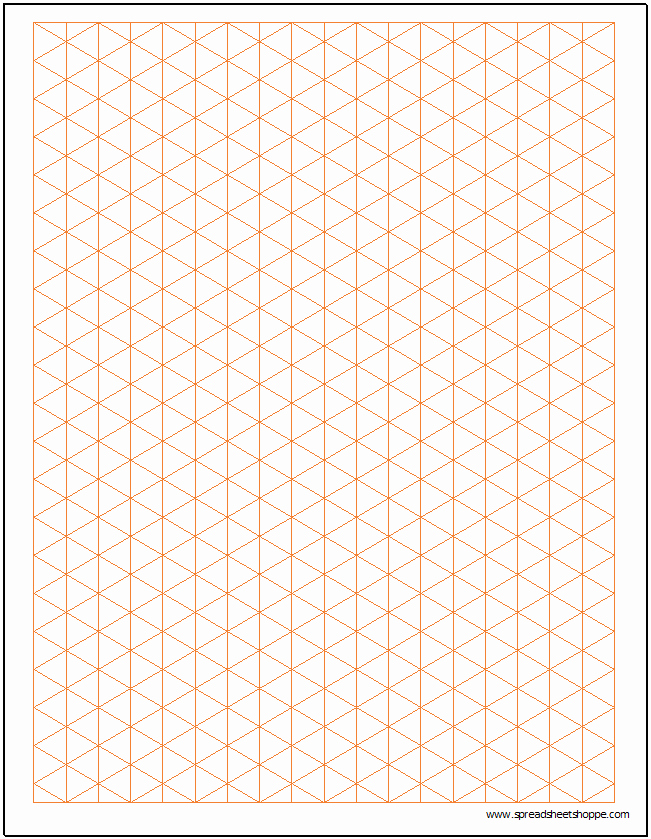 Excel Graph Paper Template New isometric Graph Paper Template Spreadsheetshoppe