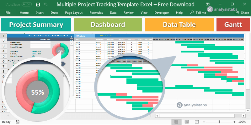 Excel Task Tracker Template Best Of Multiple Project Tracking Template Excel