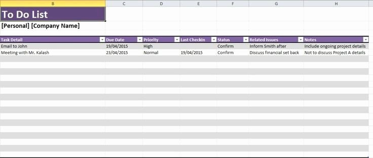 Excel Task Tracker Template Elegant Daily Task List Template Excel Spreadsheet