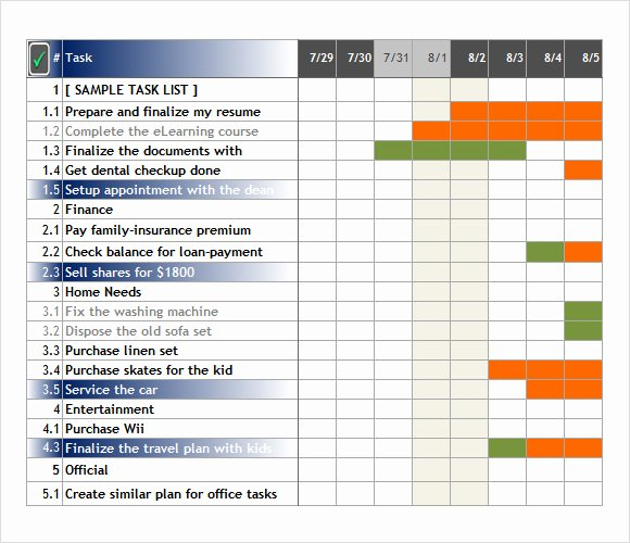 Excel Task Tracker Template Lovely Free 6 Task Tracking Samples In Pdf Word