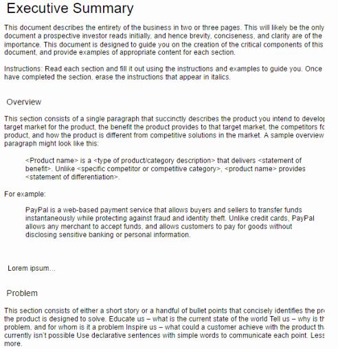 Executive Summary Template Microsoft Word Elegant 43 Free Executive Summary Templates In Word Excel Pdf