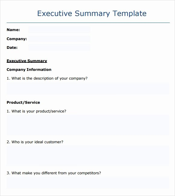 Executive Summary Template Microsoft Word Lovely Sample Executive Summary Template 8 Documents In Pdf