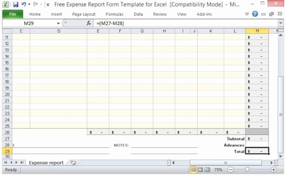 Expense Report Template Word Beautiful 10 Expense Report Templates Word Excel Pdf formats