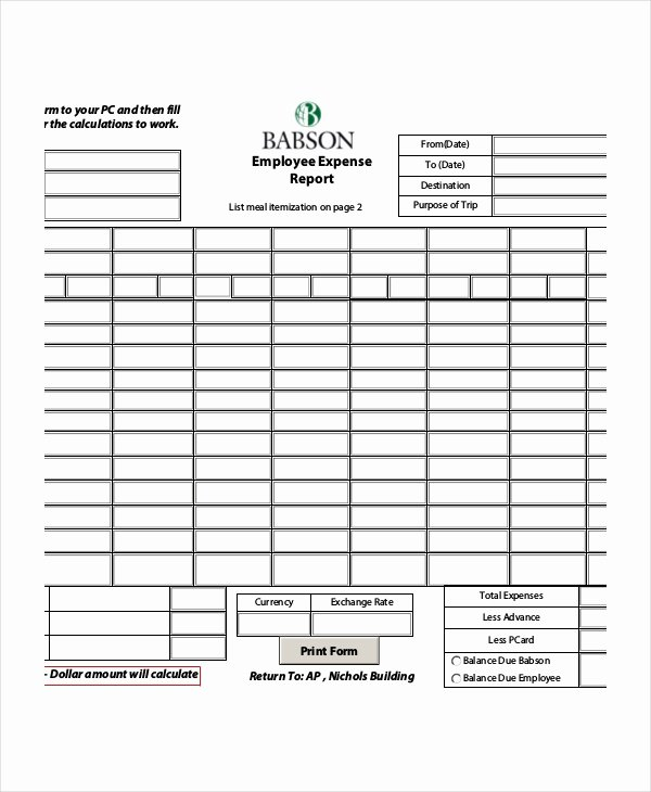 Expense Report Template Word Fresh Expense Report 20 Free Word Excel Pdf Apple Pages
