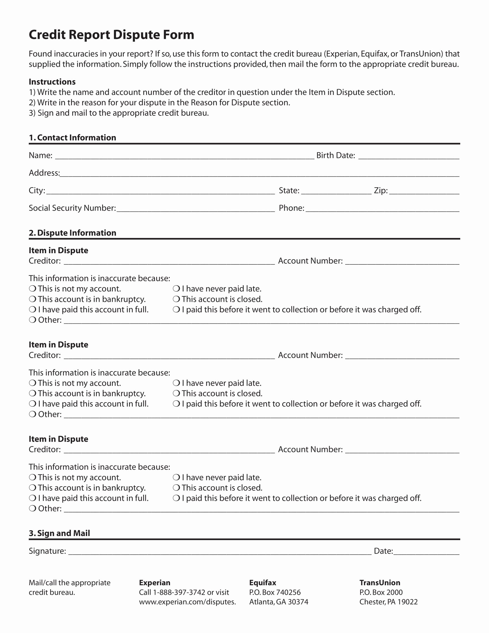 Fake Credit Report Template Awesome 12 Credit Report forms Pdf