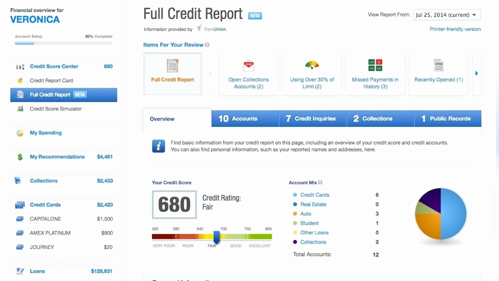 Fake Credit Report Template Beautiful Credit Karma Fers Free Weekly Credit Reports and Monitoring