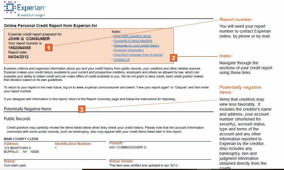 Fake Credit Report Template Luxury Sample Credit Report How to Your Fake Credit Report