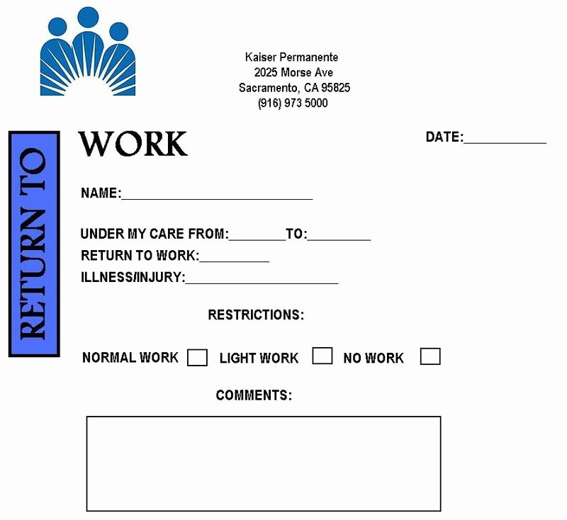 Fake Hospital Note Template Beautiful Free Printable Doctors Note for Work