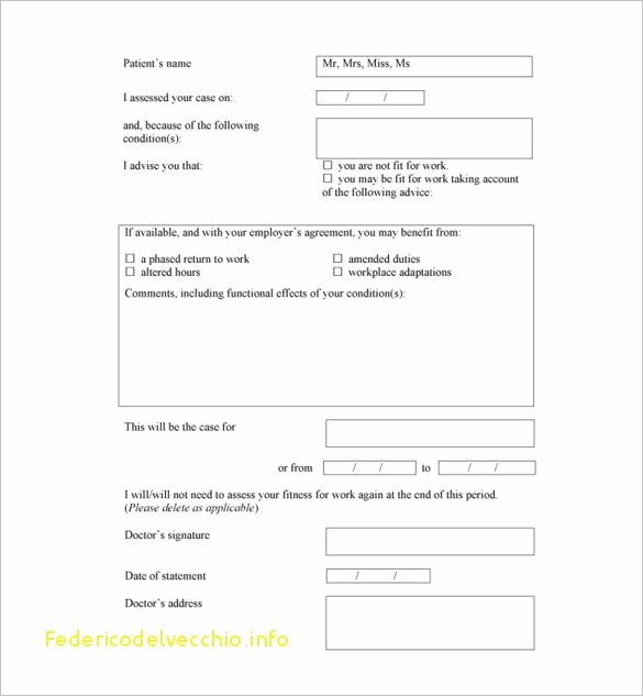 Fake Hospital Note Template Lovely Free Fake Doctors Note Template Download – Impressive