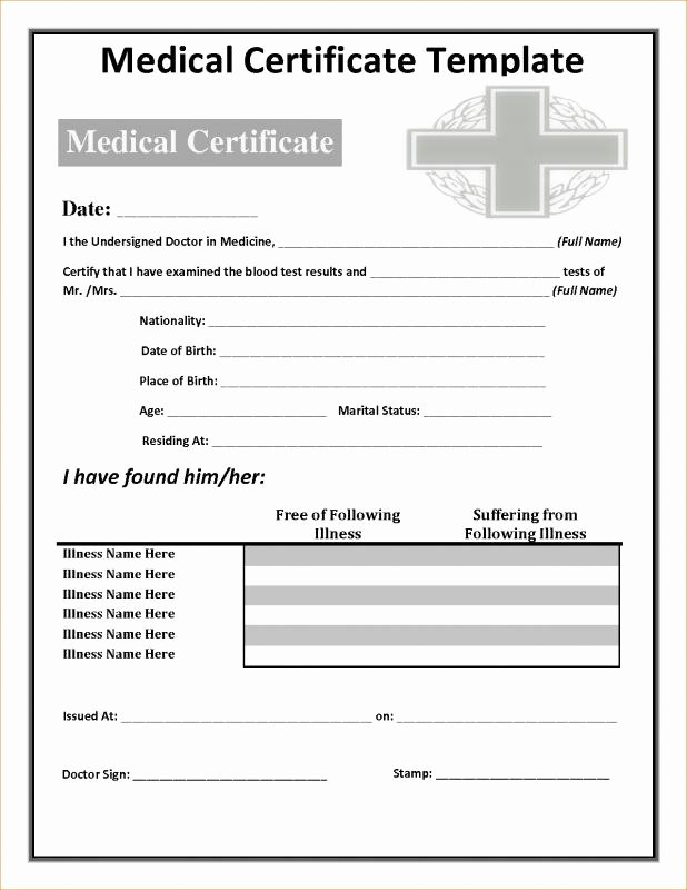 Fake Hospital Note Template New Fake Doctors Note Template