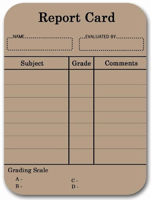Fake Report Card Template Awesome 17 Best Images About Report Cards On Pinterest