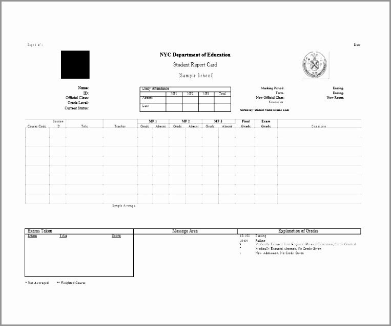 Fake Report Card Template Beautiful Fake Report Card Template Hatch Urbanskript Free Fake