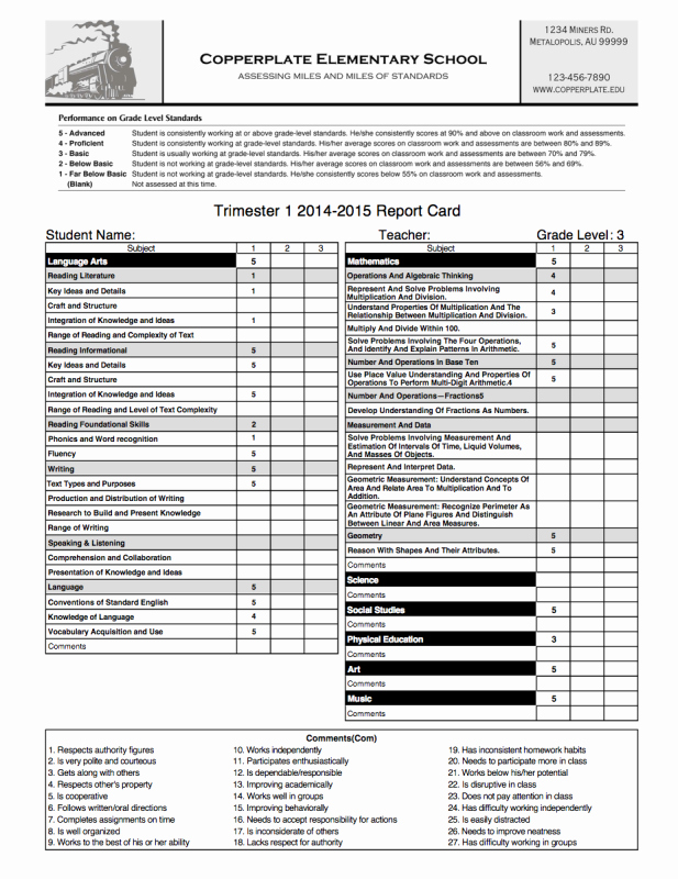 Fake Report Card Template Elegant Streamline Your Report Card Process