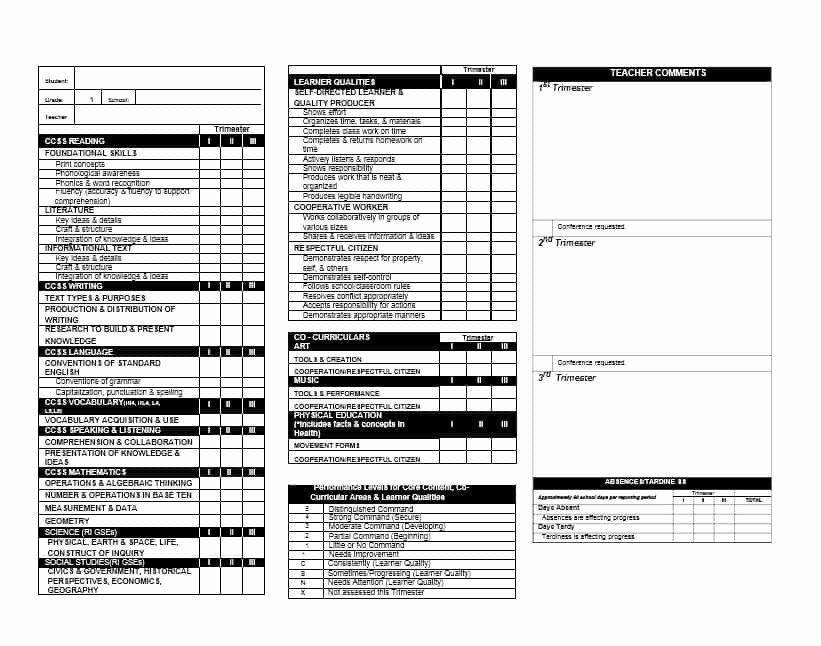 Fake Report Card Template Luxury 30 Real & Fake Report Card Templates [homeschool High