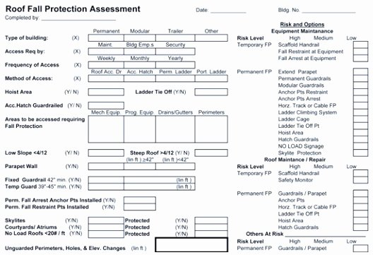Fall Protection Plan Template Lovely 7 Working at Height Risk assessment Template Euoeo