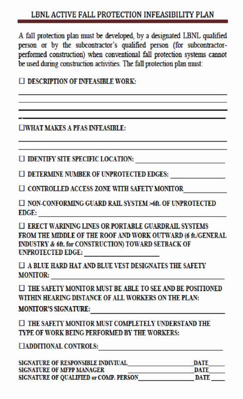 Fall Protection Plan Template Luxury Pub 3000 Chapter 30 Fall Protection Program