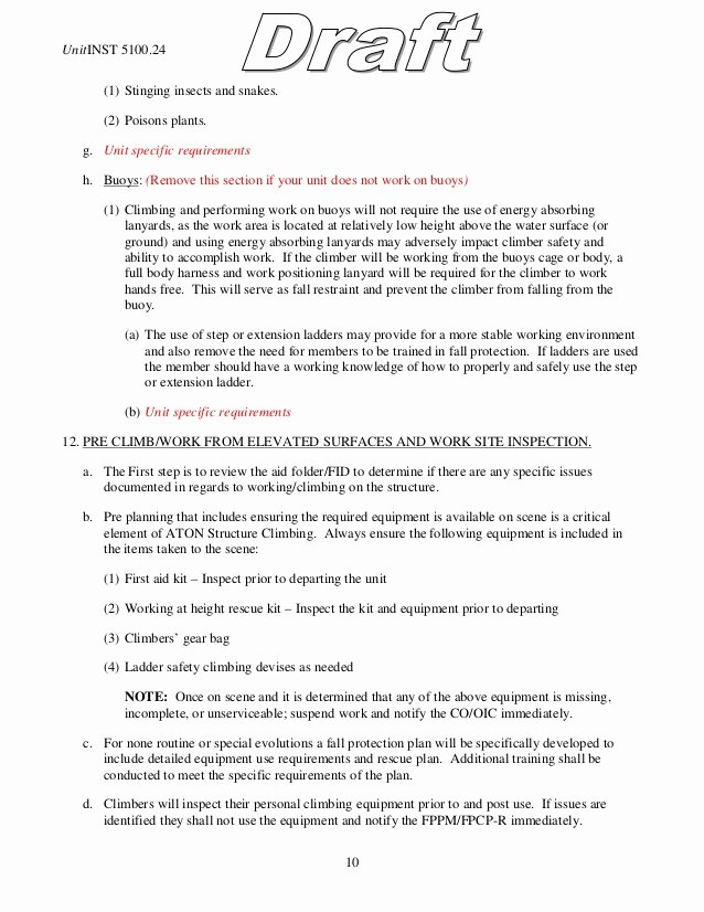 Fall Protection Plan Template New Fall Protection Plan Example Template