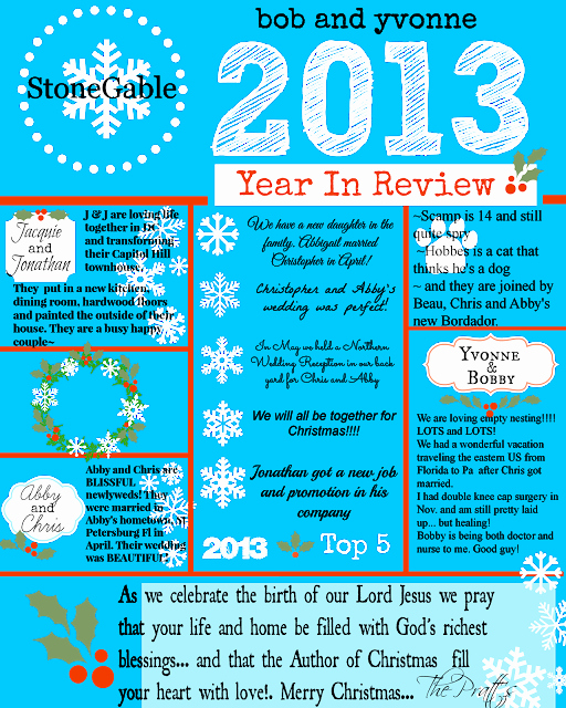Family Christmas Letter Template Awesome 2013 Year In Review Stonegable