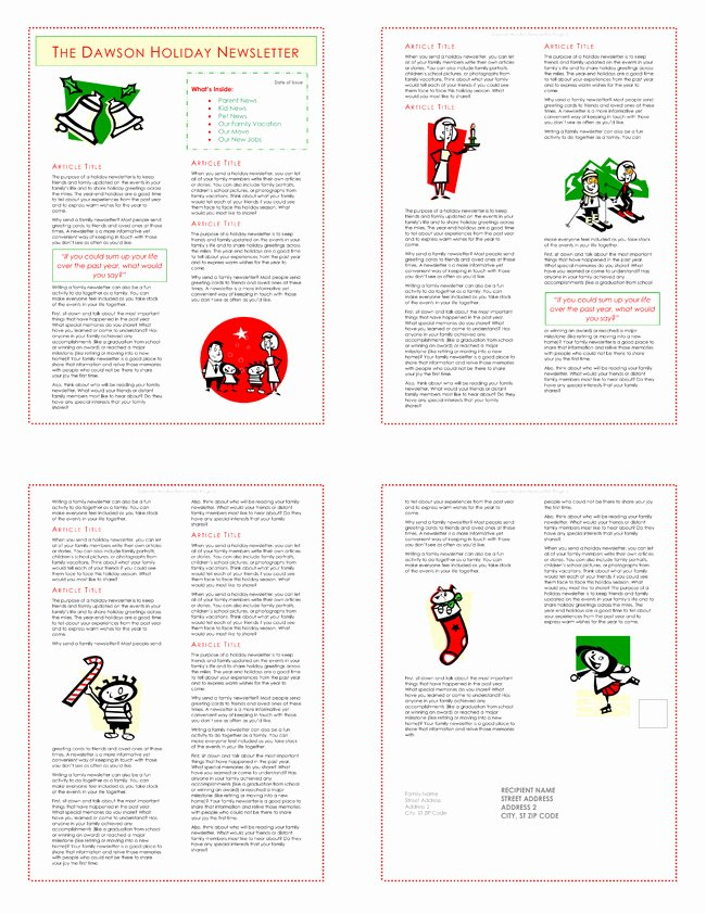 Family Christmas Letter Template Elegant 9 Christmas Newsletter Templates to Create Printable and
