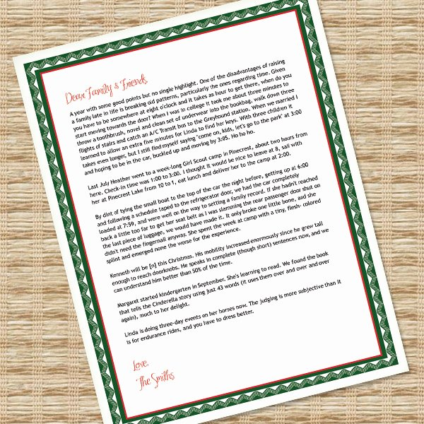 Family Christmas Letter Template Fresh Printable Christmas Letter Paper – Microsoft Word Template