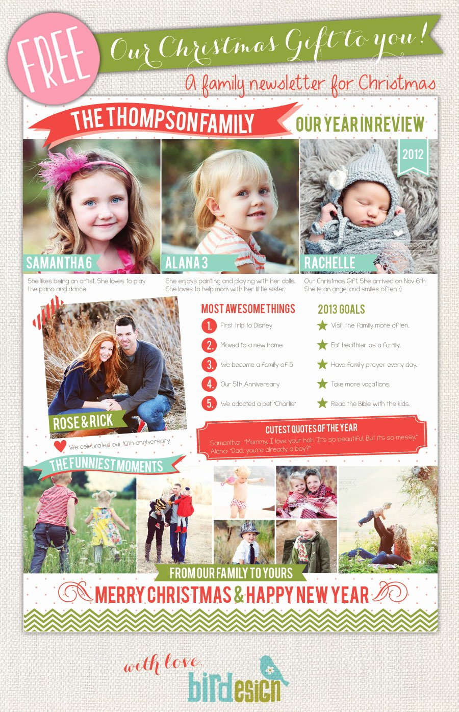 Family Christmas Letter Template Inspirational 50 Free Holiday Card Templates