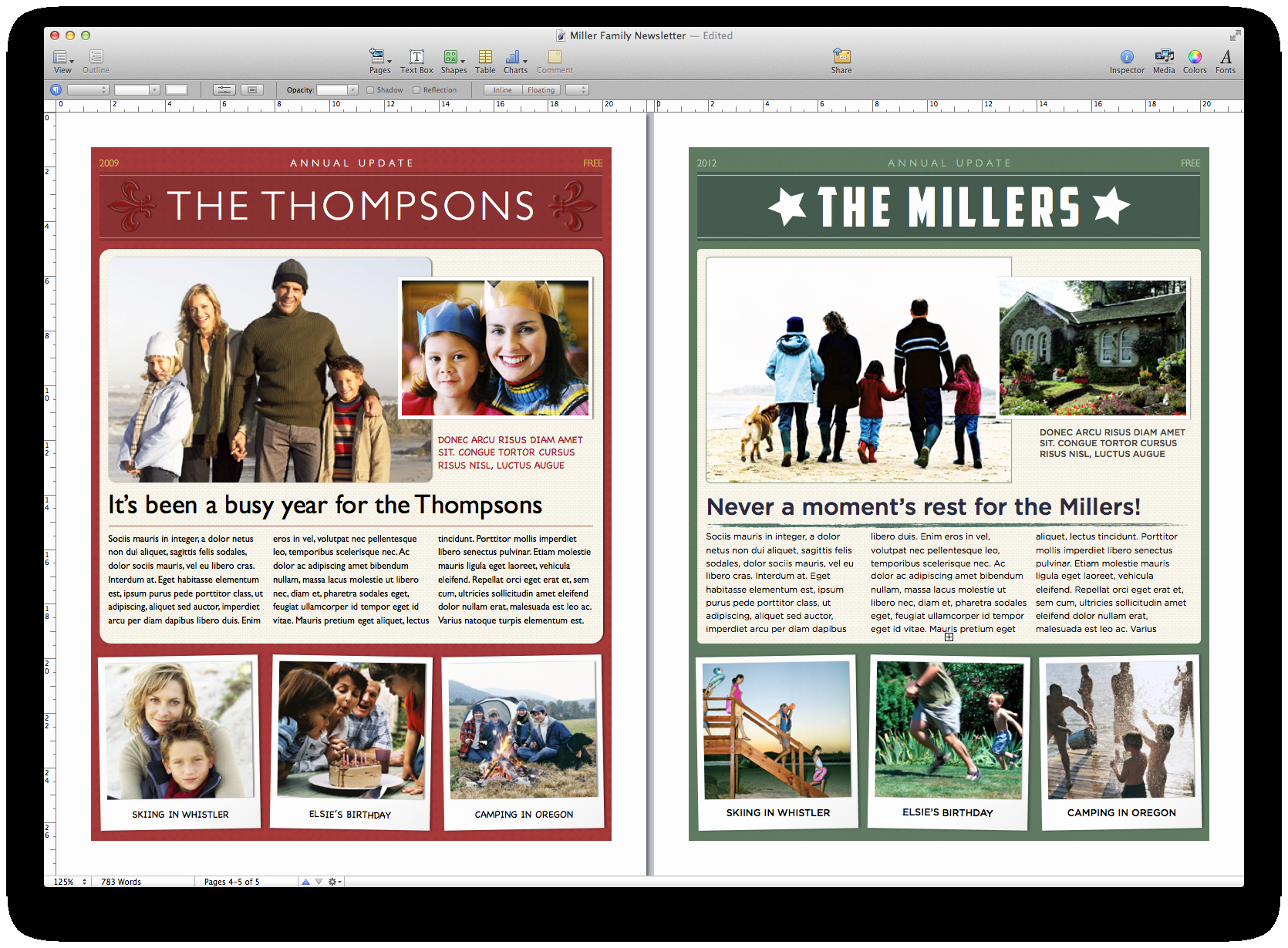 Family Christmas Letter Template Inspirational Create A Holiday Newsletter with Pages or I