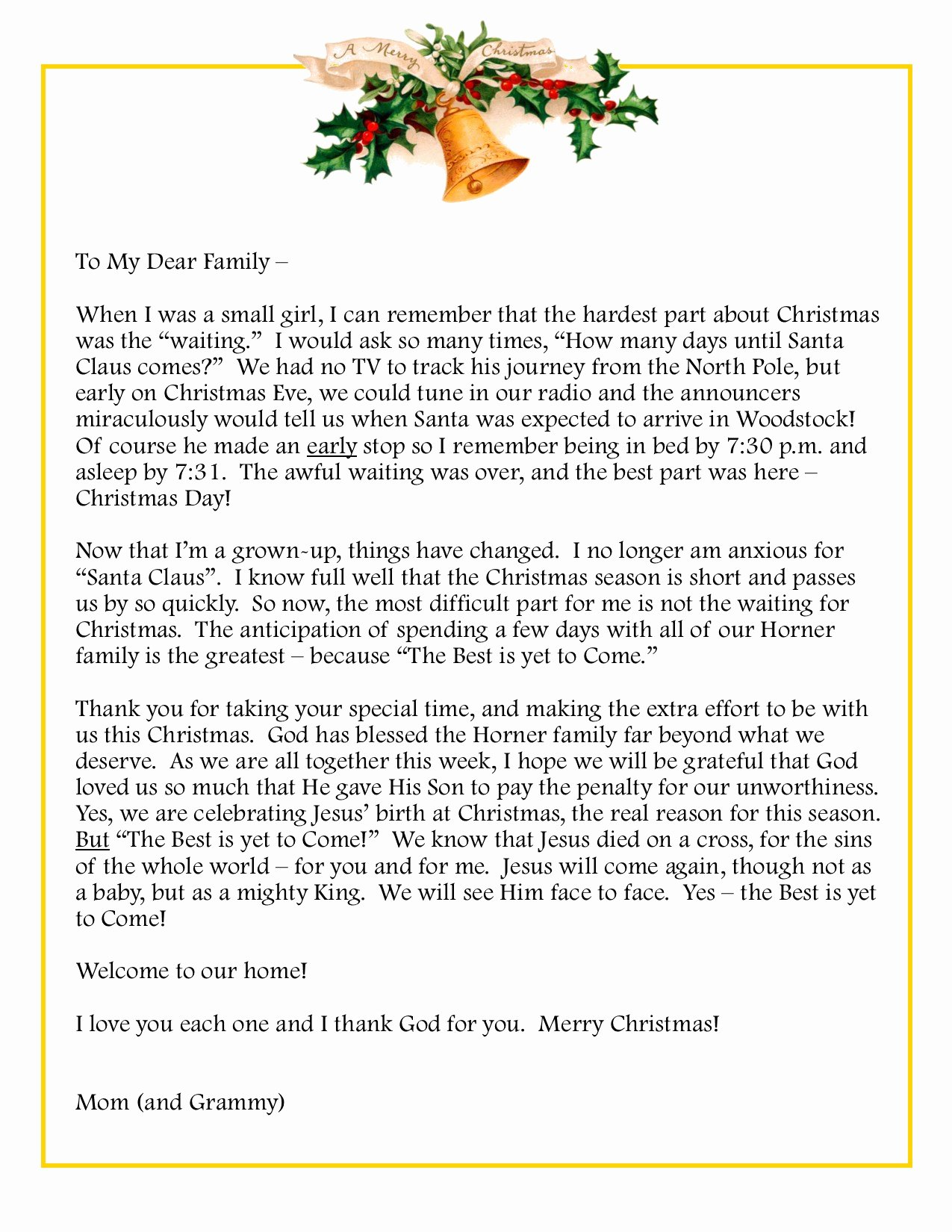 Family Christmas Letter Template Inspirational Family – Premier Designs Inc Blog