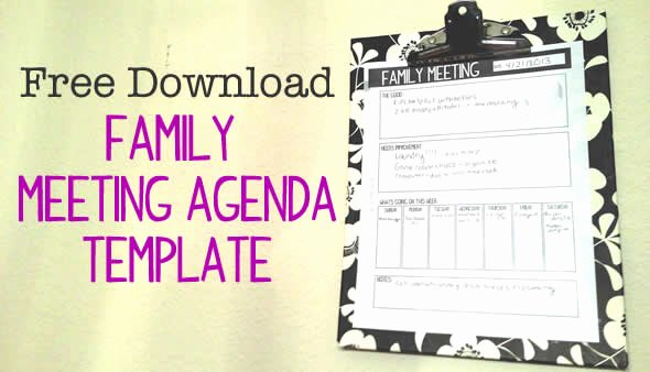 Family Meeting Agenda Templates Beautiful Family Meetings How they Ve Helped Our Family Connect