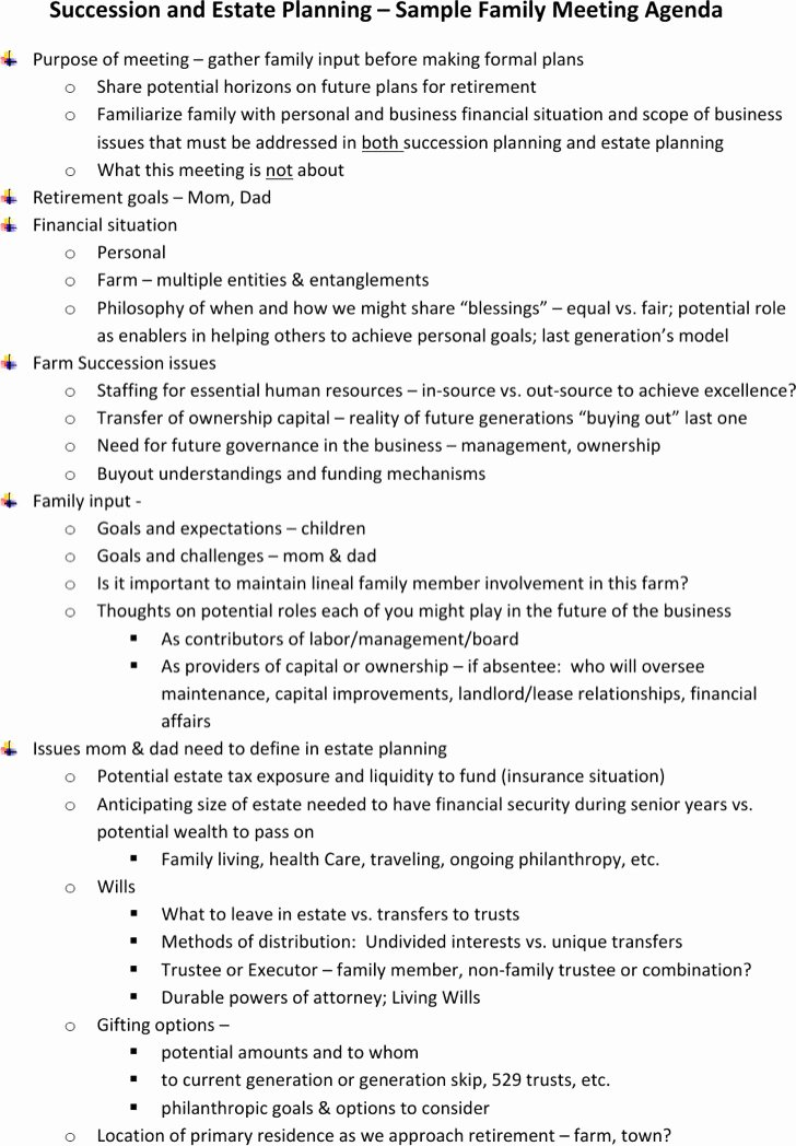Family Meeting Agenda Templates Best Of 8 Family Meeting Agenda Templates Free Download