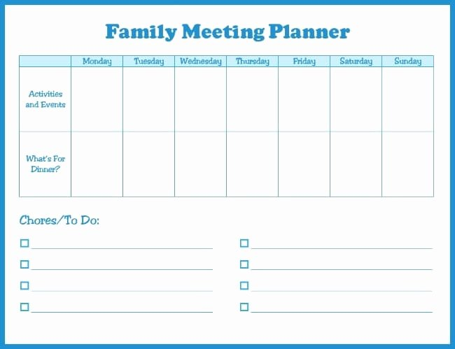 Family Meeting Agenda Templates Elegant Manage Your Busy Family Life Easily with A Family Meeting