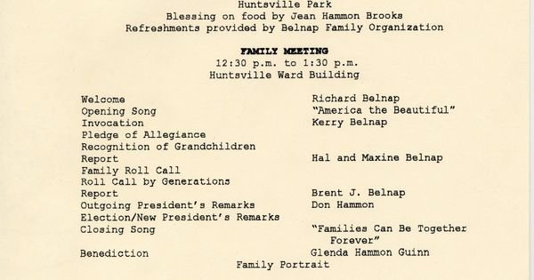 Family Reunion Agenda Template Fresh Family Reunion Agenda Template Invitation Templates