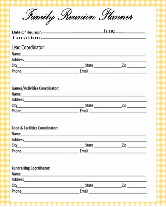 Family Reunion Agenda Template New Free Printables Unlimited Downloads Click On the Link