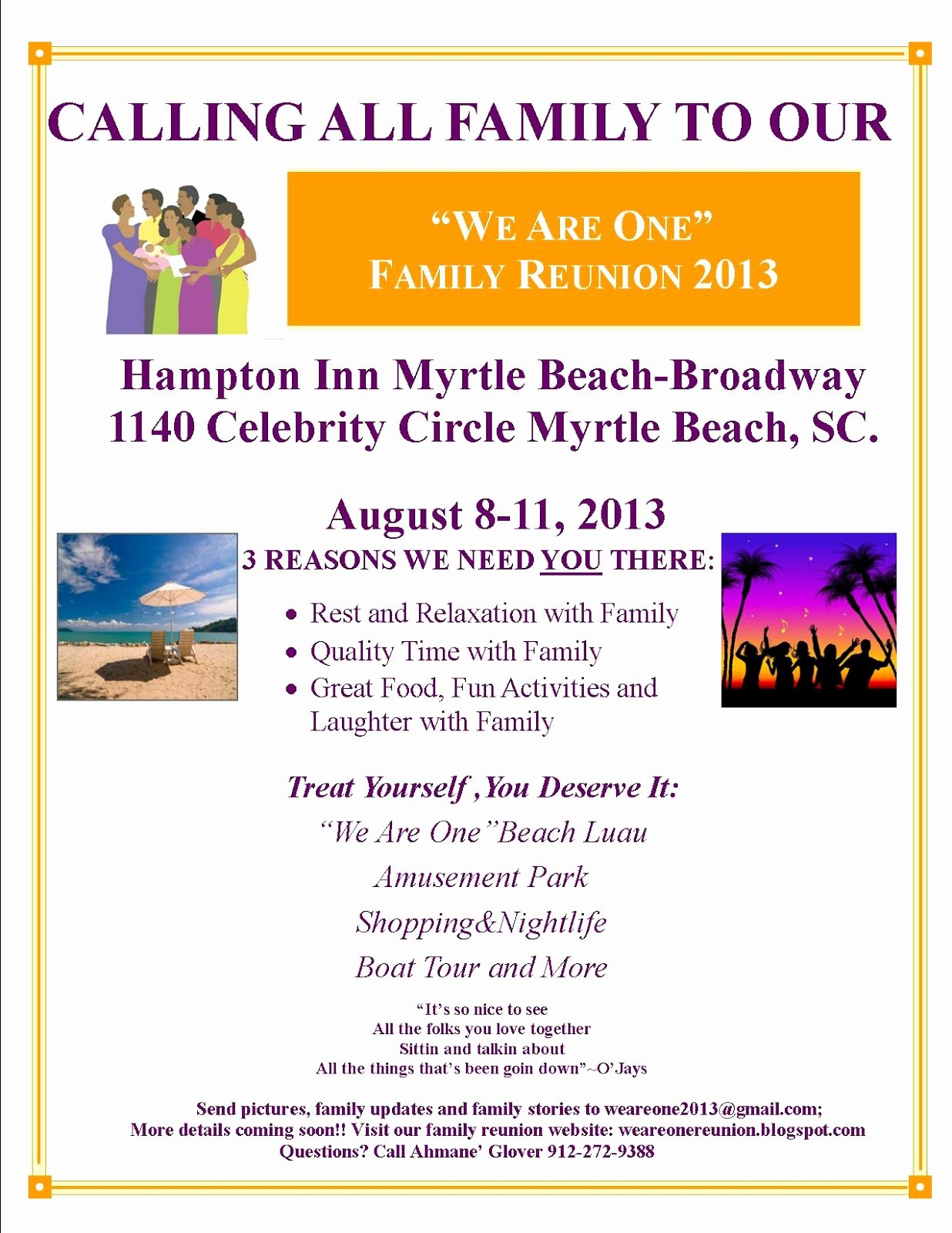 Family Reunion Flyer Template Awesome We are E Family Reunion
