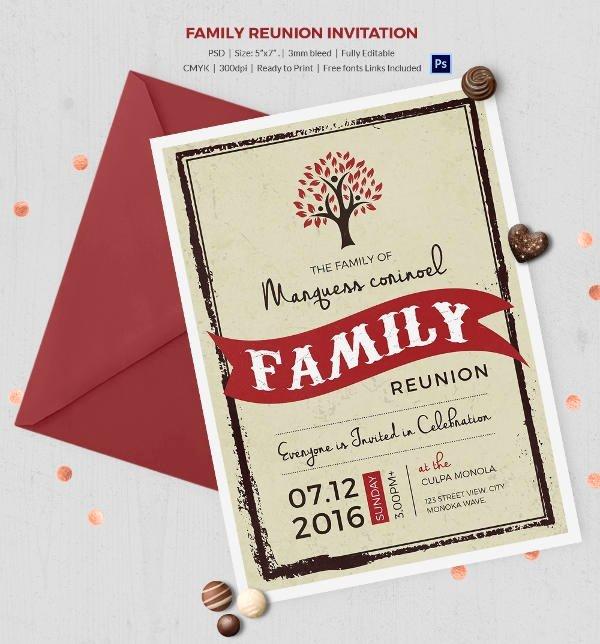 Family Reunion Flyer Template Beautiful 32 Family Reunion Invitation Templates Free Psd Vector