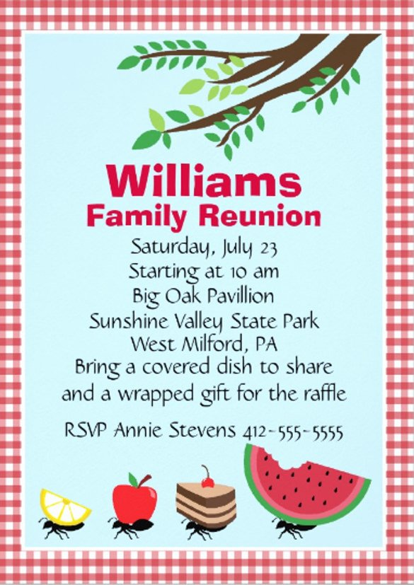 Family Reunion Flyer Template Best Of 24 Picnic Invitation Template Psd Eps Ai