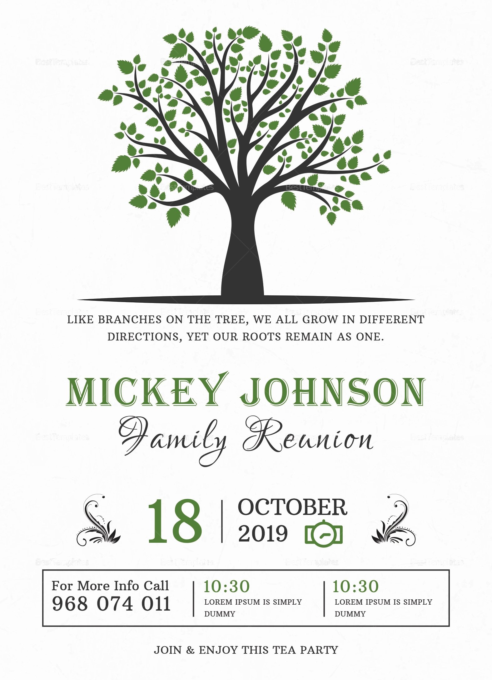 Family Reunion Flyer Template Best Of Classic Family Reunion Invitation Design Template In Word