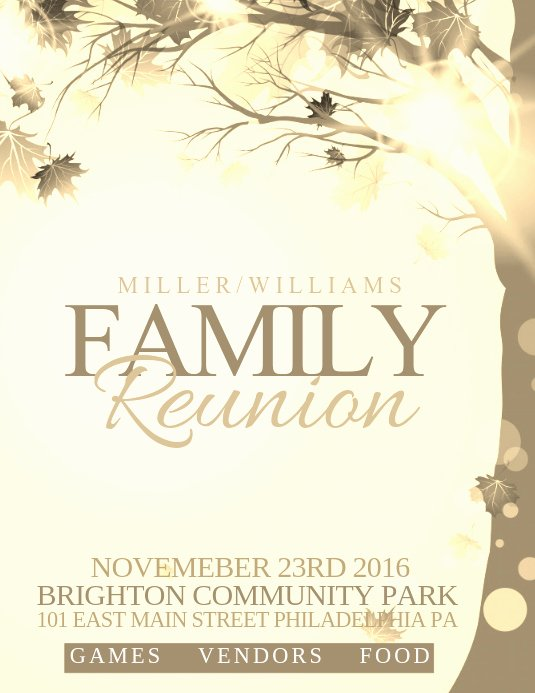 Family Reunion Flyer Template Best Of Family Reunion Template