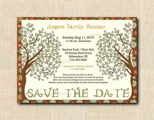 Family Reunion Flyer Template Elegant 25 Family Reunion Invitation Templates Free Psd