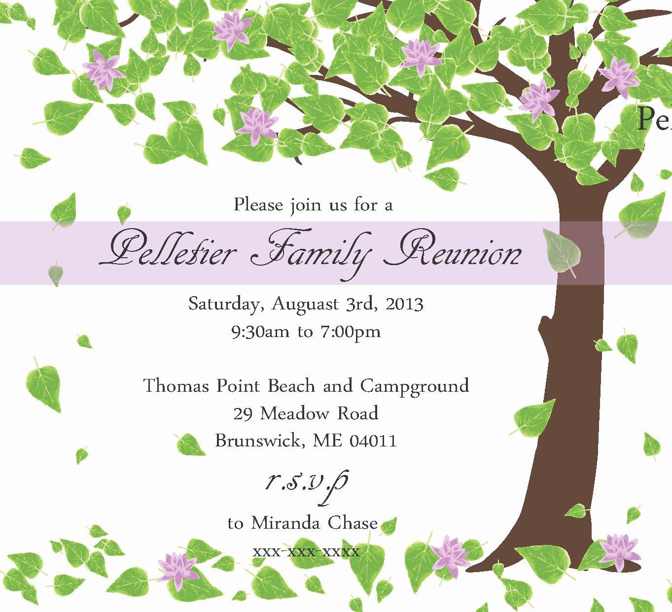 Family Reunion Flyer Template Inspirational Family Reunion Invitation
