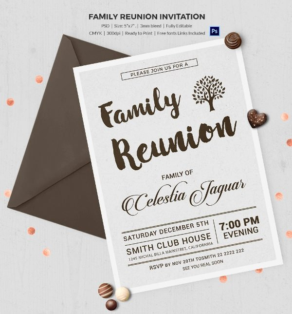 Family Reunion Flyer Template Lovely 32 Family Reunion Invitation Templates Free Psd Vector