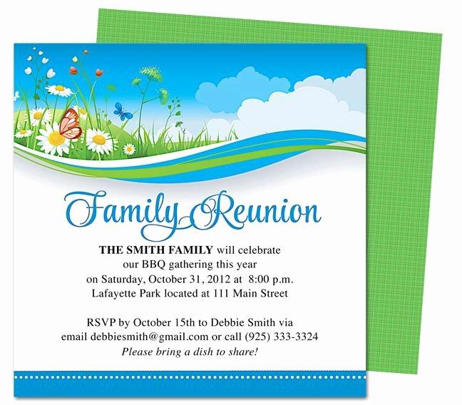 Family Reunion Flyer Template Luxury Summer Breeze Family Reunion Party Invitation Templates