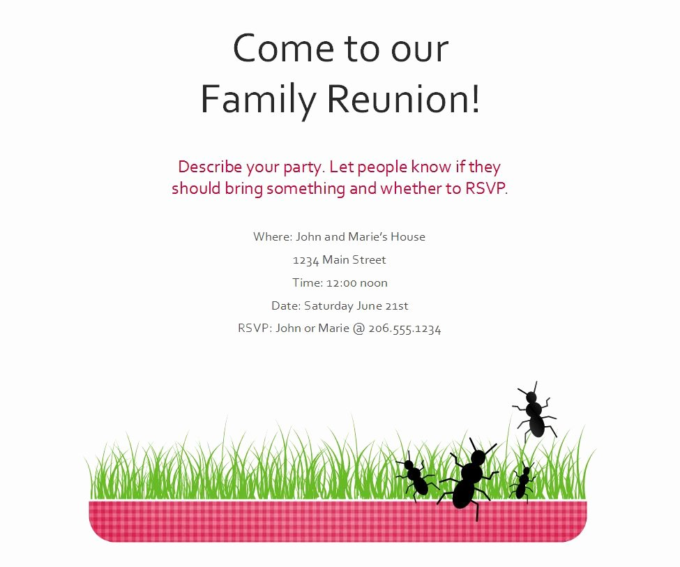 Family Reunion Flyer Template New Blog Archives Backupfluid
