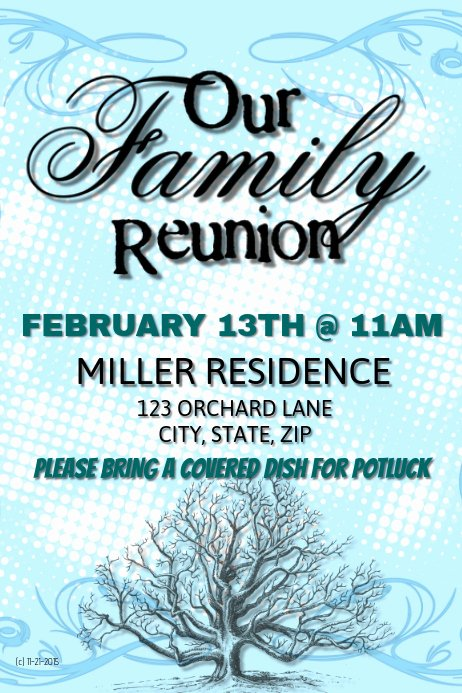Family Reunion Flyer Template New Family Reunion Template