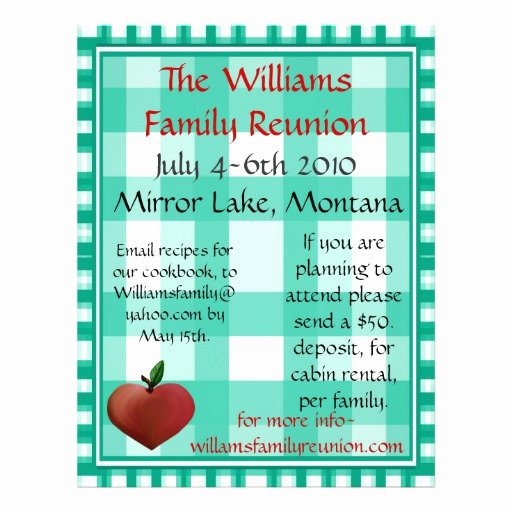 Family Reunion Flyer Templates Awesome Family Reunion Flier Flyers