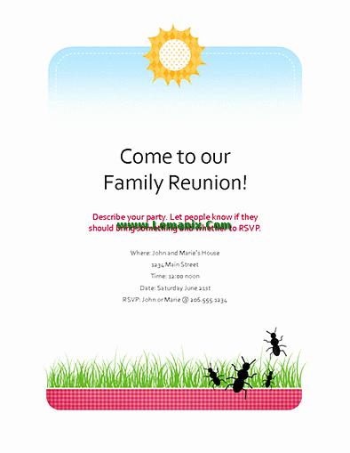 Family Reunion Flyer Templates Beautiful Family Reunion Flyer Microsoft Publisher Templates for