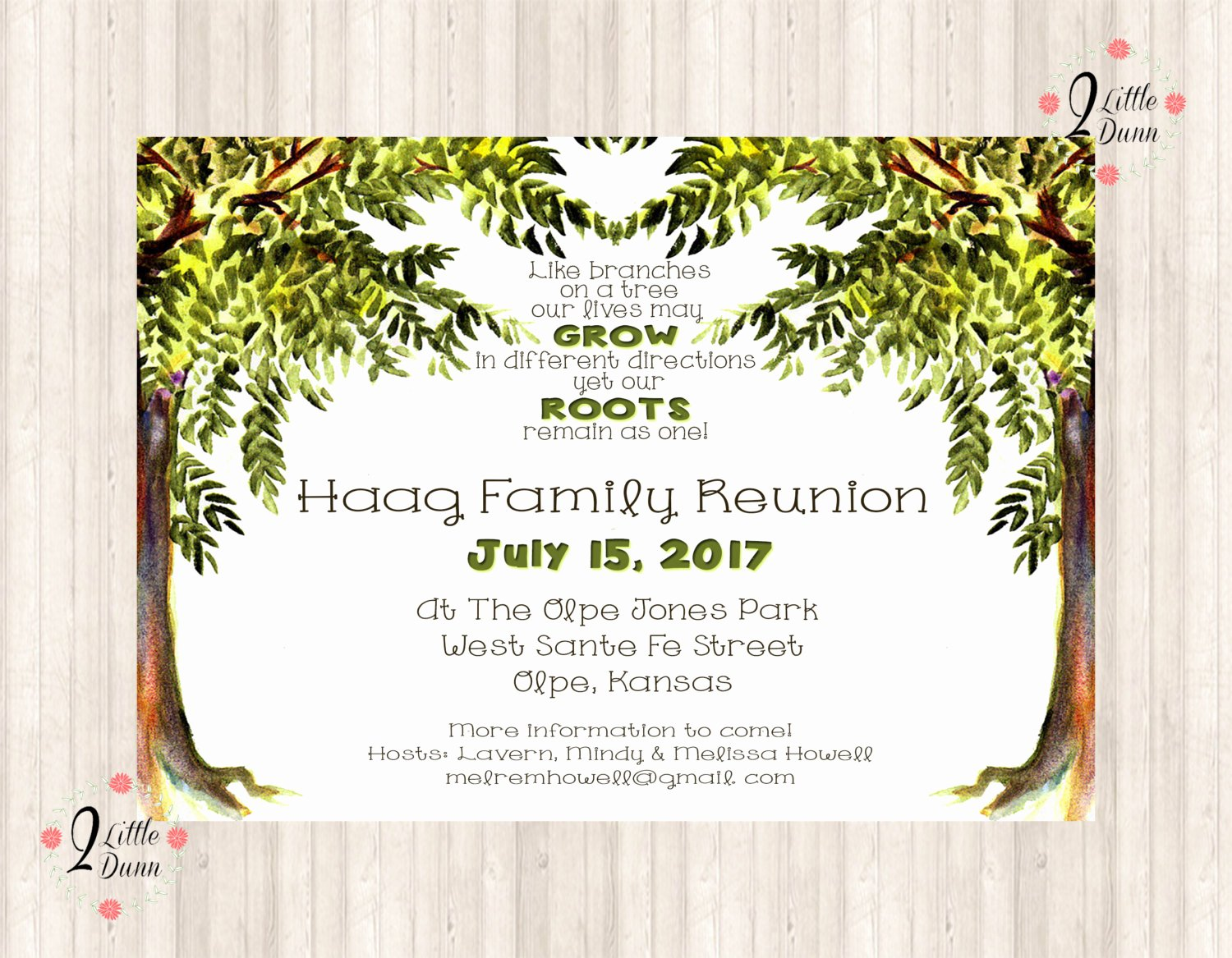 Family Reunion Flyer Templates Beautiful Family Reunion Invite Trees Printable Digital Invitation
