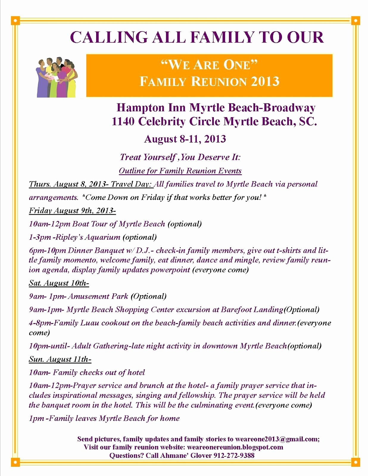 Family Reunion Flyer Templates Best Of 27 Of Family Reunion Schedule events Template